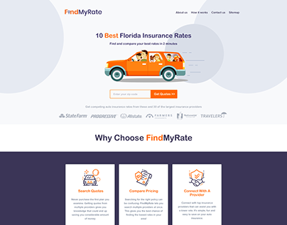 Insurance Quotes - Landing Page Design