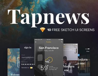 Tapnews | Free mobile ui kit