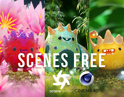 Octane Render Free Scenes By Oscar creativo