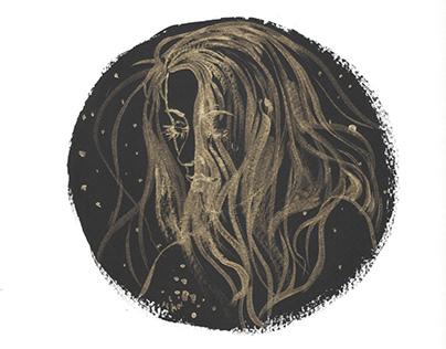 Midnight Black & Gold Mandalas