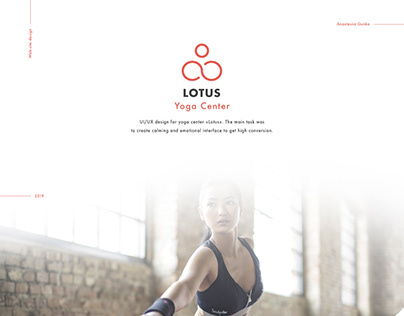 UI/UX design for Yoga Center