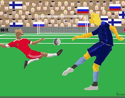 Finlandia - Russia. Euro 2021.