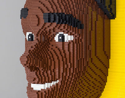 LEGO sculptures -  Miguel's head