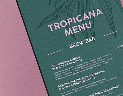 TROPICANA | Branding for a brow bar