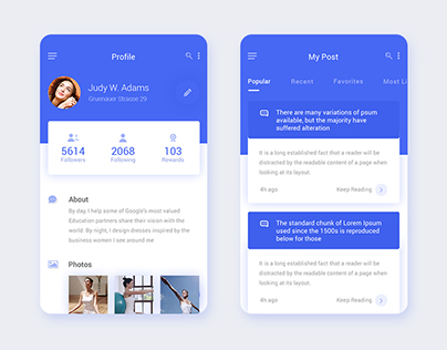 Daily UI for Profile and Post