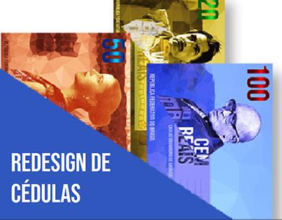 Projeto de redesign das cédulas brasileiras.