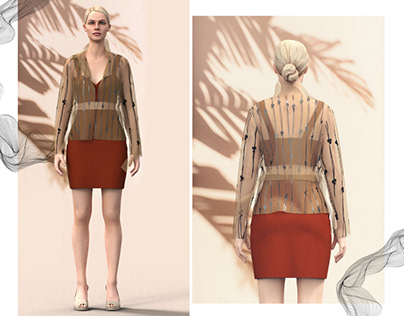 Virtual fashion - ornamental earthy