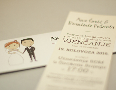 Pozivnica za vjenčanje // Wedding Invitation