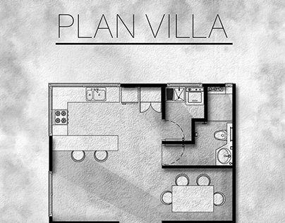 Post-production stage of the villa scheme plan