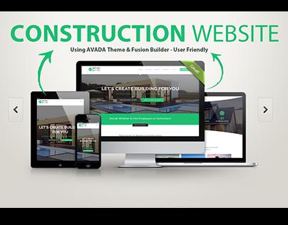 WORDPRESS WEBSITE | CONSTRUCTION WITH AVADA THEME