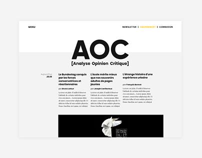 Aoc | Webdesign