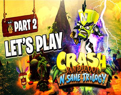 Crash Bandicoot N-sane Trilogy Youtube Gaming Thumbnail