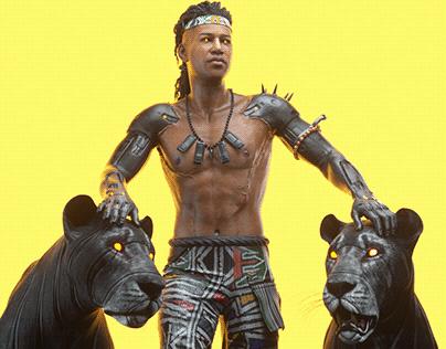Mandla - 3D Cyberpunk Character Design