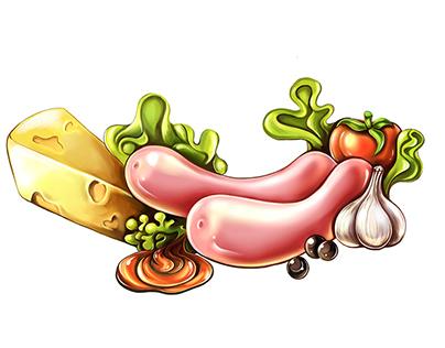 Food illustration|2017