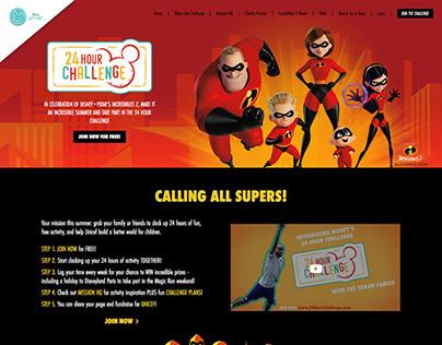 Disney 24 Hour Challenge Virtual Event Designs