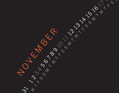 Calendar Poster 2018