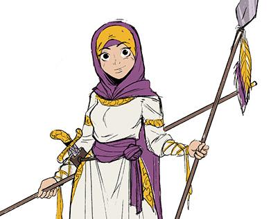 Muslim warrior woman