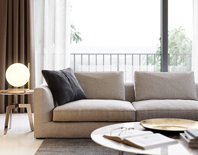 Furniture Rendering for a Sofa
