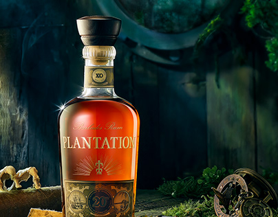 Plantation 20Year rum Product Advertising photography