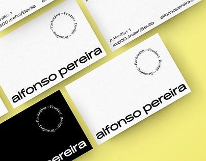Identidad visual estudio Alfonso Pereira