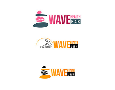 LOGO DESIGN FOR WAVE HEALTH BAR