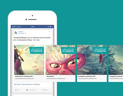 Campañas facebook Autodesk - Carrousels