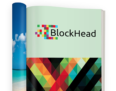 Blockhead and Block Protection Logos and concepts.