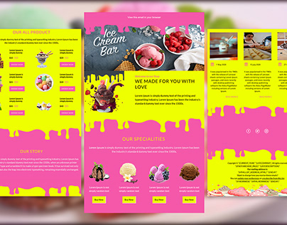 Ice-cream shop newsletter   Mailchimp email template
