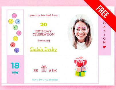 Birthday Invitation - free Google Docs Template