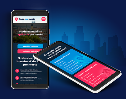 """Design for website & project """"App for the City"""""""