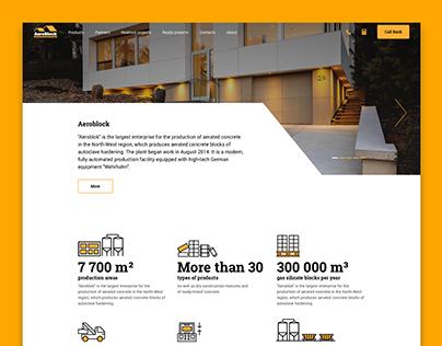 Aeroblock, web-site design
