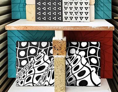 "Ceramic Tile ""Mountains #3"""