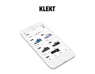 Mobile app design Klekt