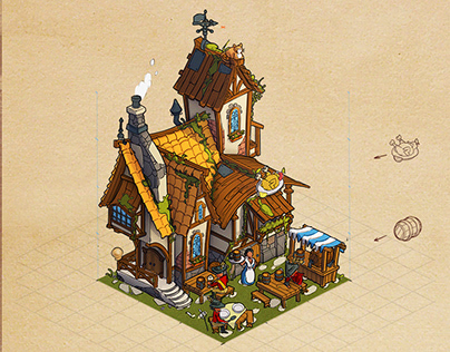 """Buildings for the game """"The Age of the Musketeers"""""""