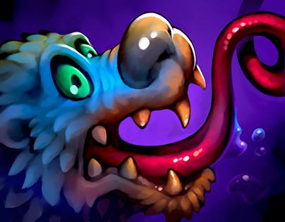 Strange creatures. Spine 2D animation.