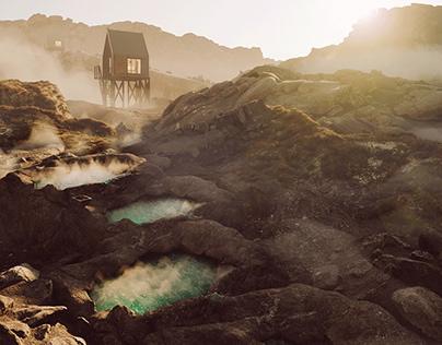 Healing hot springs