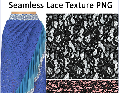 Free Seamless Lace Texture PNG with Transparency!