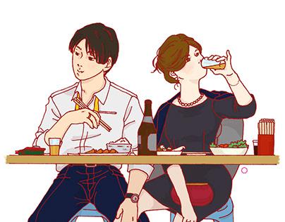 食事n景 - n views of food
