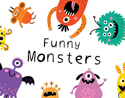 Funny Monsters vector characters