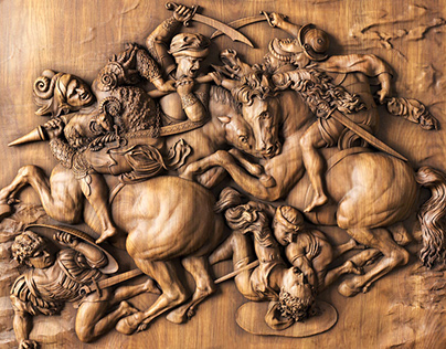 Battle of Anghiari - by Leonardo Da Vinci