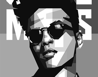 Illustration of Bruno Mars
