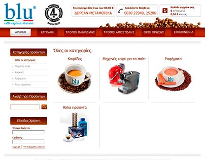 Web Design BLU CAFÉ Int