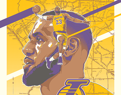 LeBron L.A. Lakers Serigraph