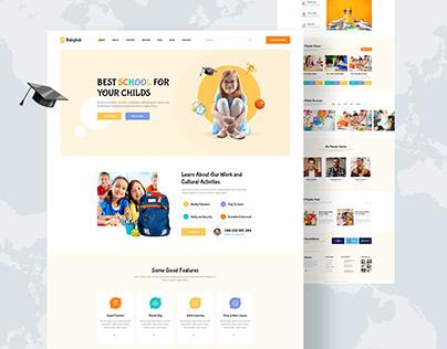 Babyhub – Kids Kindergarten Website