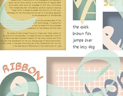 Typography Design   RibbonSept