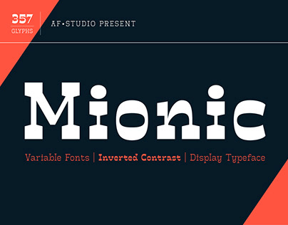 Mionic - Inverted Contrast Variable Fonts