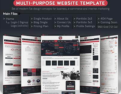 MULTIFY | Multipurpose Psd Website Template