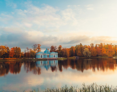 Golden autumn in Russia