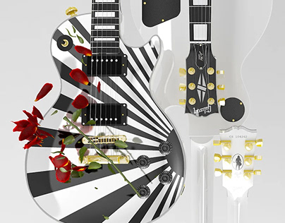 Piyu Les Paul custom - Kamikaze Wallpaper