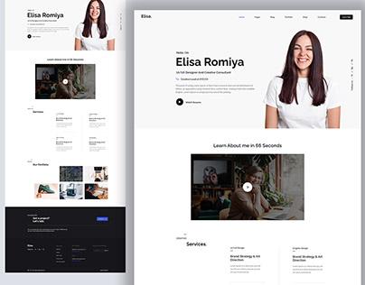 Elisa - Portfolio Landing Page